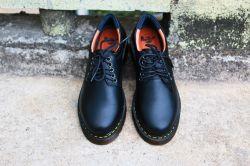 Giày da dr martens nam thái lan 8053 cổ thấp màu đen