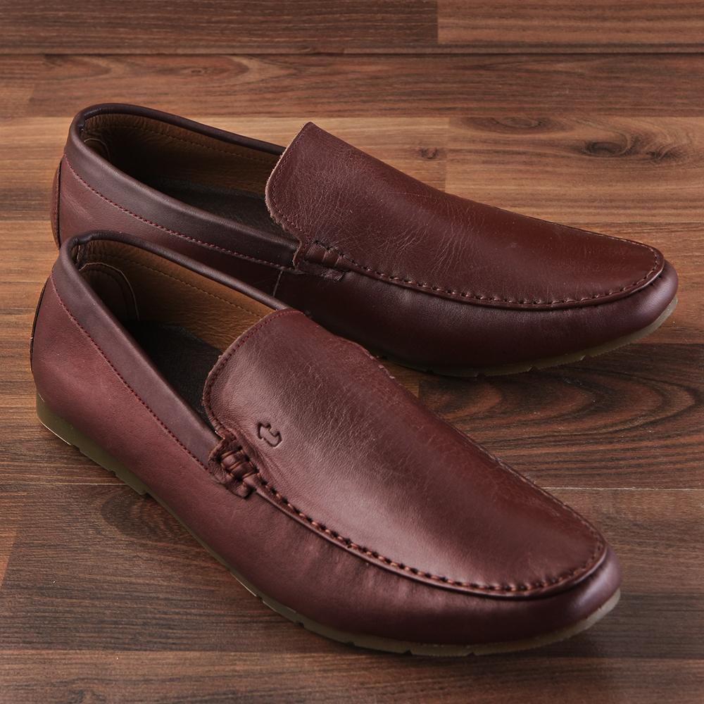 Giày lười da bò