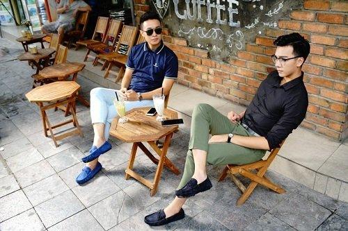 Đôi giày lười thể hiện phong cách