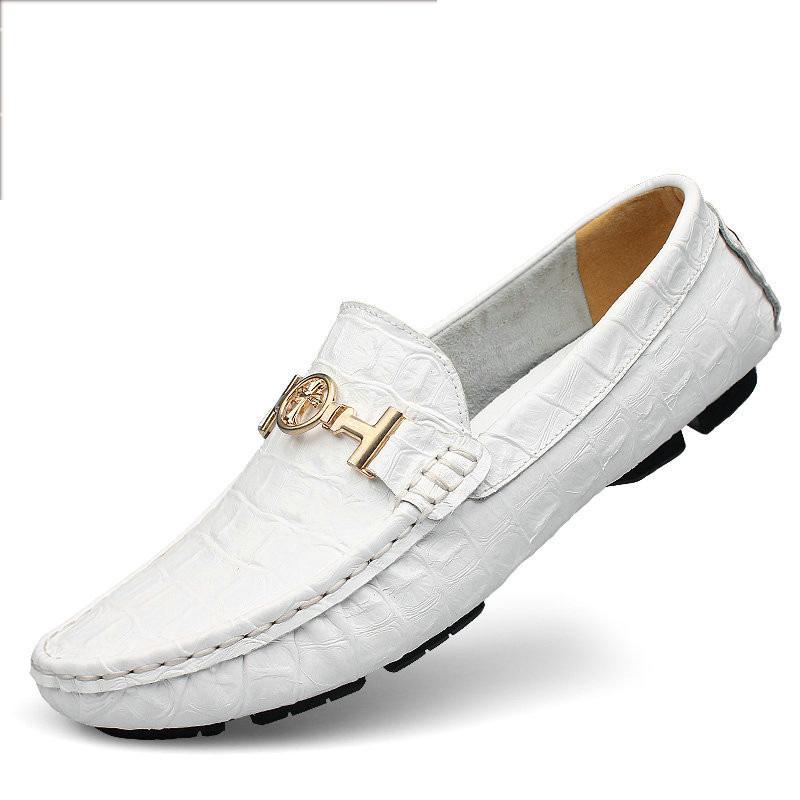 Giày da cá sấu trắng cực đẹp